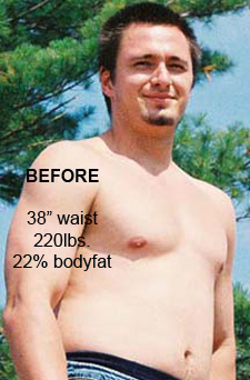personal trainer in toronto, in home personal training toronto, eric astrauskas, body transformation, before picture