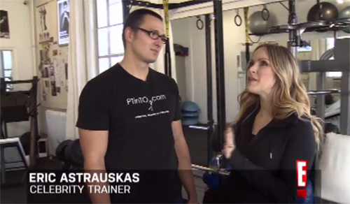 personal trainer in toronto, eric astrauskas, celebrity trainer, e! canada workout, leah miller workout, studio fitness