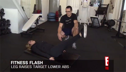 personal trainer in toronto, eric astrauskas, e! canada workout, leah miller, ab workout
